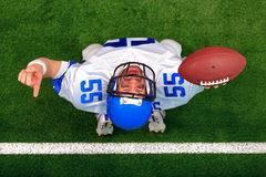 American football touchdown celebration Royalty Free Stock Photo