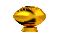 American Football trophy in Gold Stock Photography