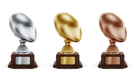 American football trophys Royalty Free Stock Photography