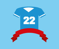 American football tshirt. Icon vector illustration graphic design Stock Images