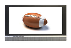 American football in tv Royalty Free Stock Photo