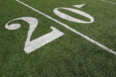 American Football Twenty Yard Line Royalty Free Stock Photo