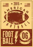 American football typographical vintage grunge style poster. Retro vector illustration. Royalty Free Stock Photography