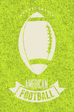 American football typographical vintage grunge style poster. Retro vector illustration. Royalty Free Stock Photos