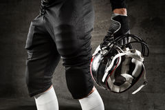 American football uniform. And helmet Royalty Free Stock Images