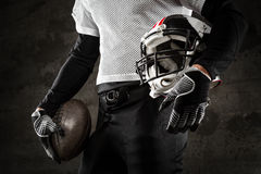American football uniform. And helmet Stock Image