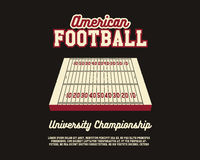 American Football university championship layout Royalty Free Stock Photo