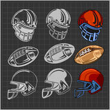 American football - vector elements for emblem Royalty Free Stock Image