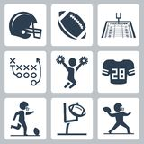 American football vector icons Stock Image