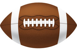 American Football. An American football isolated on a white background Royalty Free Stock Photos