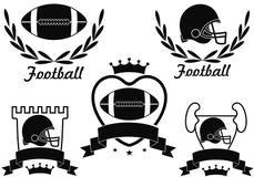 American Football. Vector illustration (EPS 10 Royalty Free Stock Photos