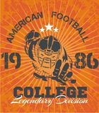 American Football - vector illustration for t- Royalty Free Stock Photos