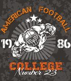American Football - vector illustration for t- Stock Photo
