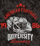 American Football - vector illustration for t- Royalty Free Stock Image