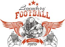 American Football - vector illustration for t- Royalty Free Stock Images