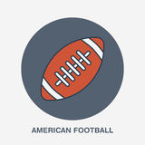American football vector line icon. Ball logo, equipment sign. Sport competition illustration Royalty Free Stock Images