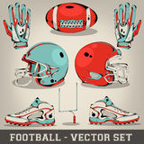 American football vector set Stock Images