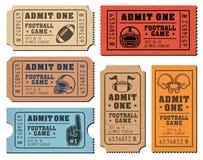 American Football vector tickets Stock Photos