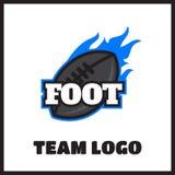 American football vintage label. American football logo vintage label  badge Royalty Free Stock Image