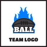 American football vintage label. American football logo vintage label  badge Royalty Free Stock Images