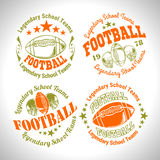 American football vintage vector labels for poster Stock Photo