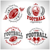 American football vintage vector labels for poster. American football -  vintage vector labels for poster, flyer or t-shirt print and sportswear Royalty Free Stock Photo