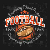 American football vintage vector labels for poster Royalty Free Stock Images