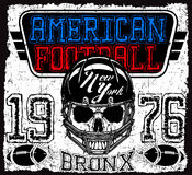 American football Vintage vector print for boy sportswear in cus Royalty Free Stock Photos
