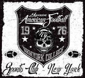 American football Vintage vector print for boy sportswear in cus Royalty Free Stock Image