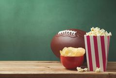 American football watching concept Stock Image