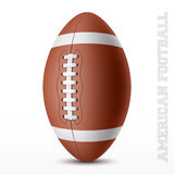 American football. On white background illustration Royalty Free Stock Photo
