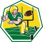 American Football Wide Receiver Catching Ball Cartoon Stock Images