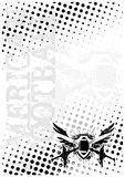 American football wings poster background Royalty Free Stock Photography