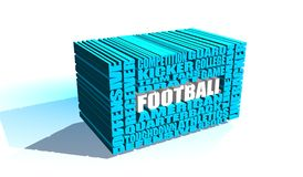 American football word cloud concept Royalty Free Stock Images