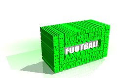 American football word cloud concept Stock Images