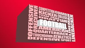 American football word cloud concept Royalty Free Stock Photography