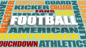 American football word cloud concept Royalty Free Stock Image