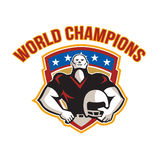 American Football World Champions Shield Stock Photography