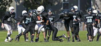 American football youth Stock Image