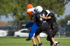 American Football - Youth - Tackle! Royalty Free Stock Images