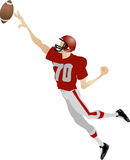 American footballer Stock Images