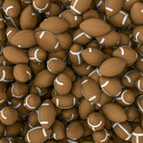 American footballs background Royalty Free Stock Images