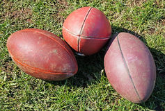 American footballs Royalty Free Stock Photos