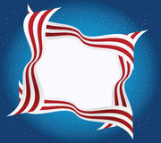 American frame. Beautiful unusual frame from the American flag Royalty Free Stock Image
