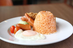 American Fried rice breakfast set Stock Images