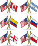 American Friendship Flags Stock Photos