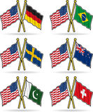 American Friendship Flags Royalty Free Stock Photo