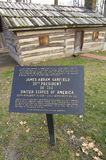 American frontier log cabin Stock Photography