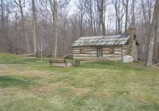 American frontier log cabin Royalty Free Stock Image