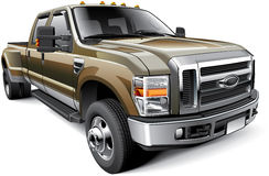 American full-size pickup truck Stock Image